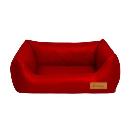 Hundebett Comfort Kunstleder mit wattierter, gesteppter Liegefläche mit Gelschaum-Inlett